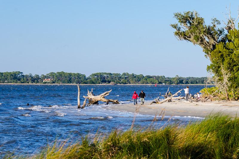 Walkers on North Loop Trail - Jekyll Island, GA