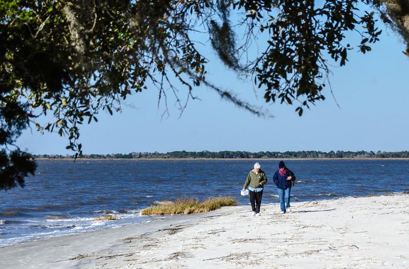 Beach Combers on St. Andrews Beach - Jekyll Island, GA