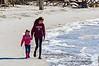 Beach Walkers on St. Andrews Beach - Jekyll Island, GA