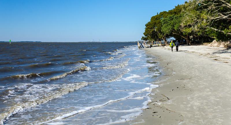 Walking on St. Andrews Beach - Jekyll Island, GA