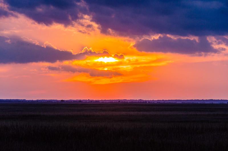 Sunset Over the Marshes - Jekyll Island, GA