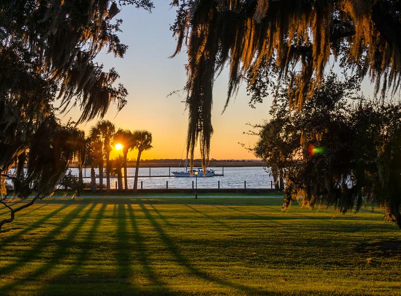 Sunset @ Jekyll Island Club Hotel - Jekyll Island, GA