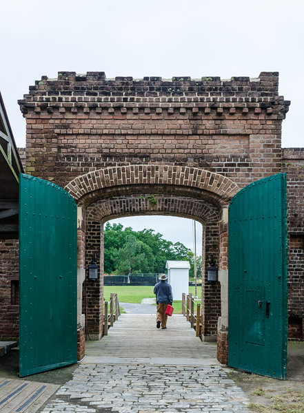 Sally Port Interior @ Fort James Jackson - Chatham County, GA