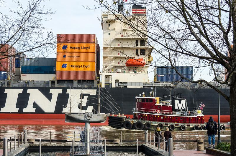 River Street Collage: SS Savannah, Cape Henlopen, NYK Meteor - Savannah, GA