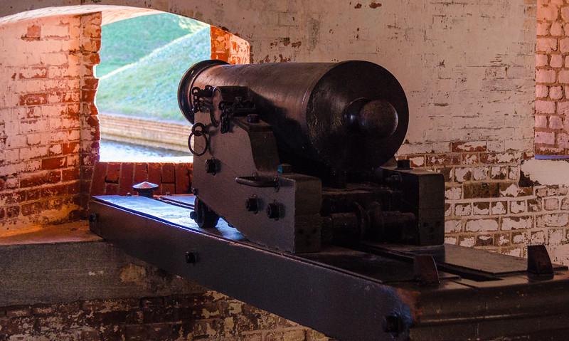 Northwest Bastion Cannon @ Fort Pulaski National Monument - Savannah, GA