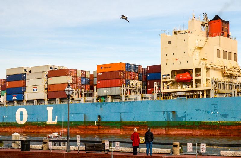 MOL Efficiency Container Ship - Savannah, GA