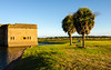 Southwest Bastion, Moat & Palm Trees @ Fort Pulaski National Monument - Savannah, GA