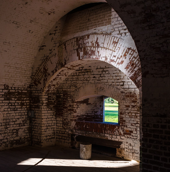 Northwest Bastion Interior @ Fort Pulaski National Monument - Savannah, GA
