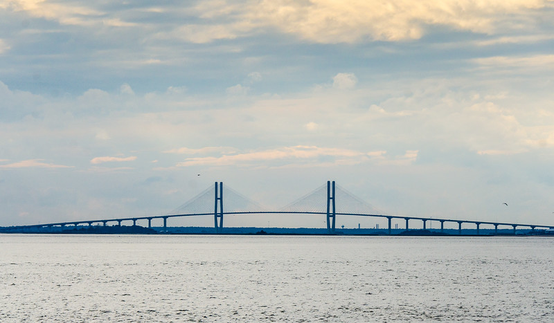 Sidney Lanier Bridge Across Fancy Bluff Creek - Brunswick, GA