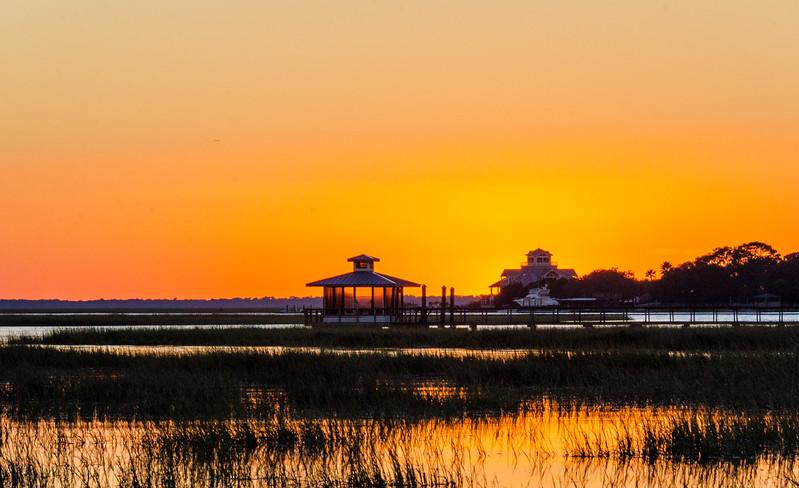 Back River Sunset V - Tybee Island, GA