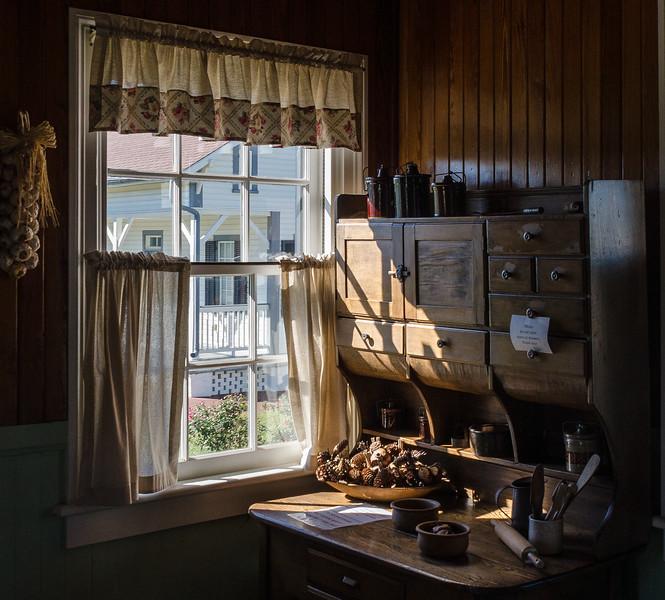 """Head Keeper's Kitchen Hutch, """"Hoosier"""" or Baker's Cabinet c 1881 @ Tybee Island Light Station - Tybee Island, GA"""