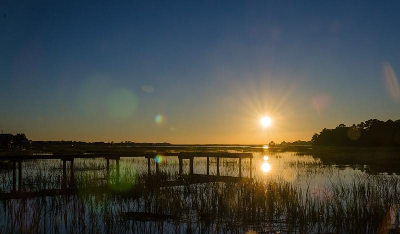 Back RIver Dock & Sunset on Tybee Creek - Tybee Island, GA