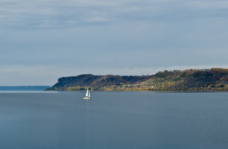 Sailboat on the Mississippi - Pepin, MN