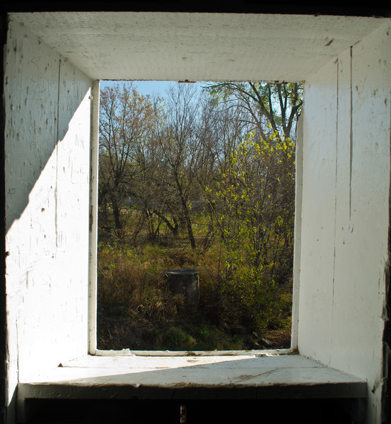 Window in the Zumbrota Covered Bridge - Zumbrota, MN