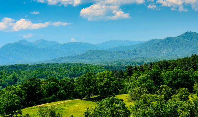 View from the Loggia in the Biltmore House @ Biltmore Estate - Asheville, NC