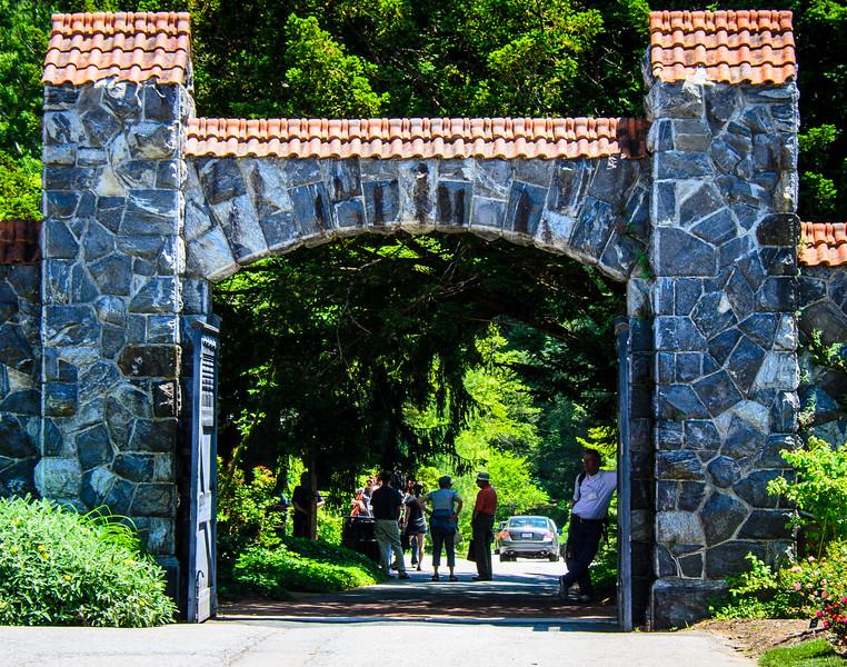 Rose Garden Gate near Azalea Garden @ Biltmore Estate - Asheville, NC