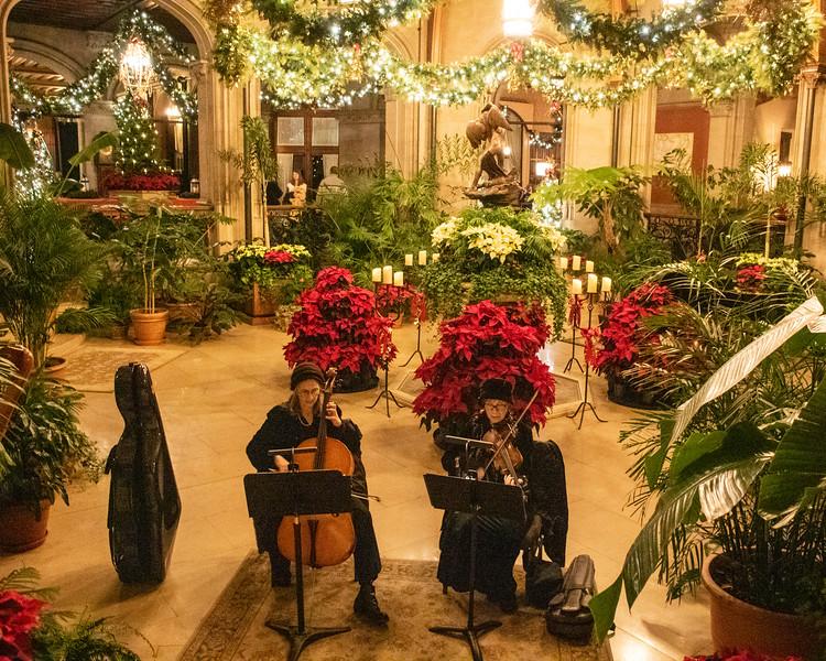Musicians in the Winter Garden @ The Biltmore Estate - Asheville, NC, USA