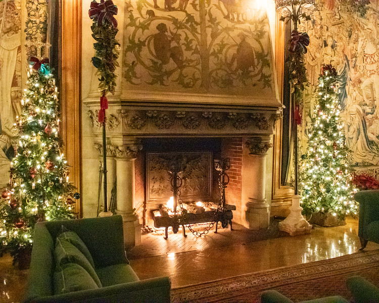 Fireplace at Christmas @ The Biltmore Estate - Asheville, NC, USA
