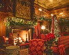 Fireplace at Christmas 2 @ The Biltmore Estate - Asheville, NC, USA