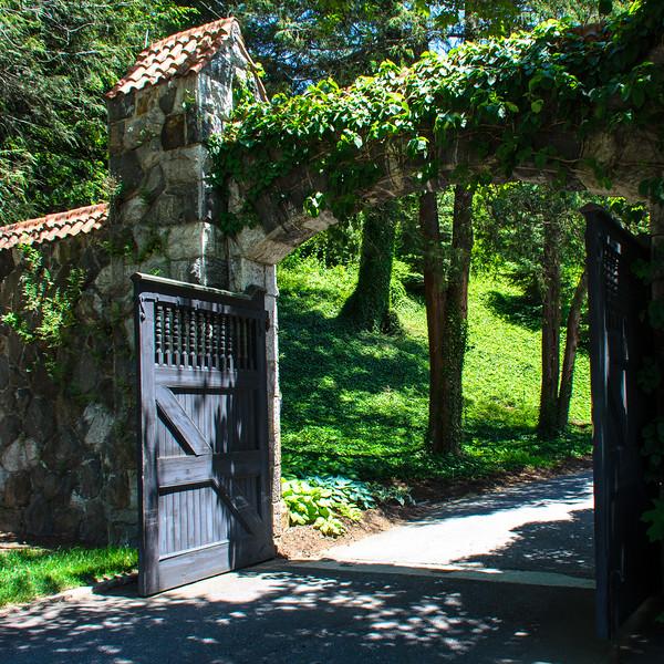 Walled Garden Gate near Spring Garden @ Biltmore Estate - Asheville, NC