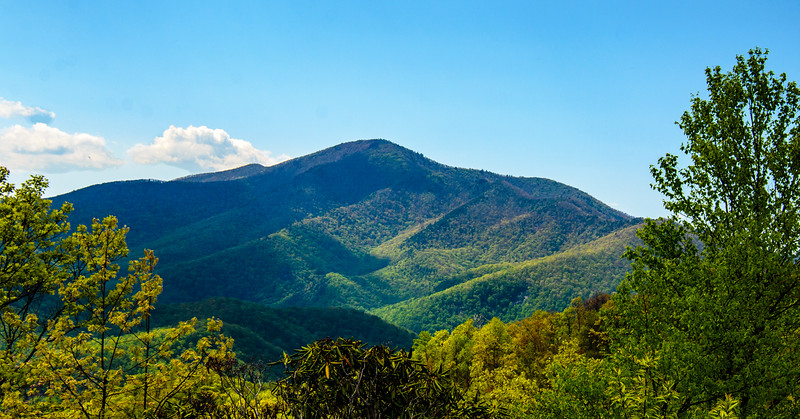 Cold Mountain from Wagon Road Gap Overlook in Pisgah Natinoal Forest - Mile 412, Blue Ridge Parkway - Canton, NC