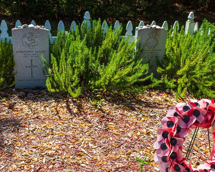 Graves @ British Cemetery - Buxton, NC, USA
