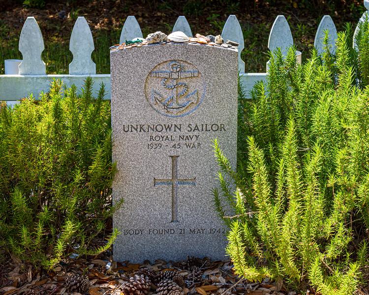 Unknown Sailor @ British Cemetery - Buxton, NC, USA