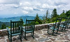 Lodge Rocking Chair View @ Mt. Mitchell State Park - Burnsville, NC