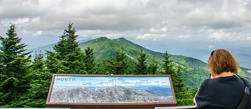 North View from Mt. Mitchell Summit @ Mt Mitchell State Park - Yancey County, NC