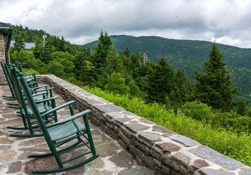 Lodge Rocking Chairs @ Mt. Mitchell State Park - Burnsville, NC