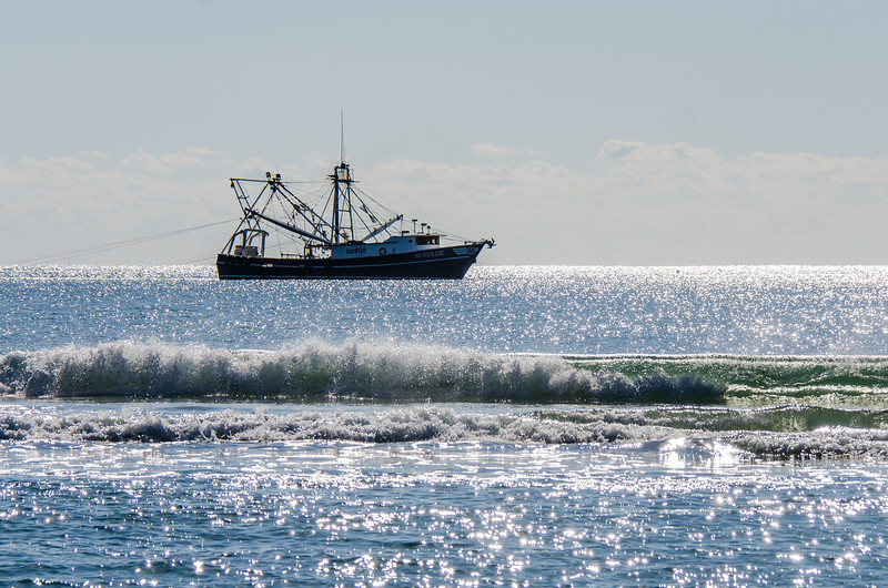 Fishing Trawler McKenzie (1069510) Close to Shore - Hatteras, NC