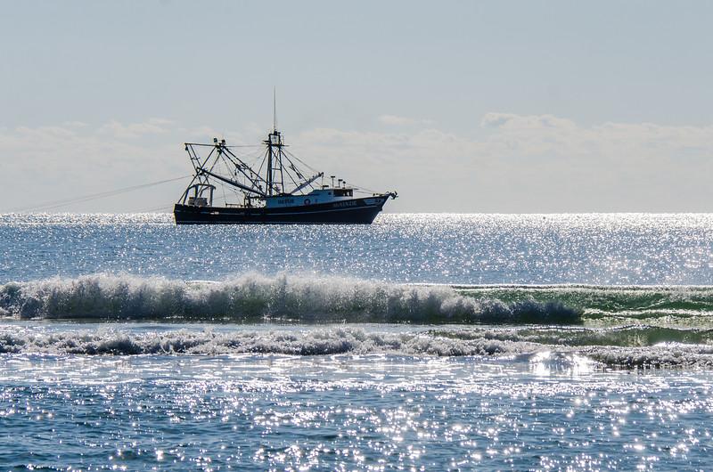 Fishing Trawler McKenzie (1069510) Close to Shore - Hatteras, NC