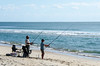 Couple Surf Fishing - Hatteras, NC