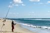 Fisherman Surf Fishing - Hatteras, NC