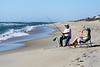 Surf Fishing Couple - Hatteras, NC