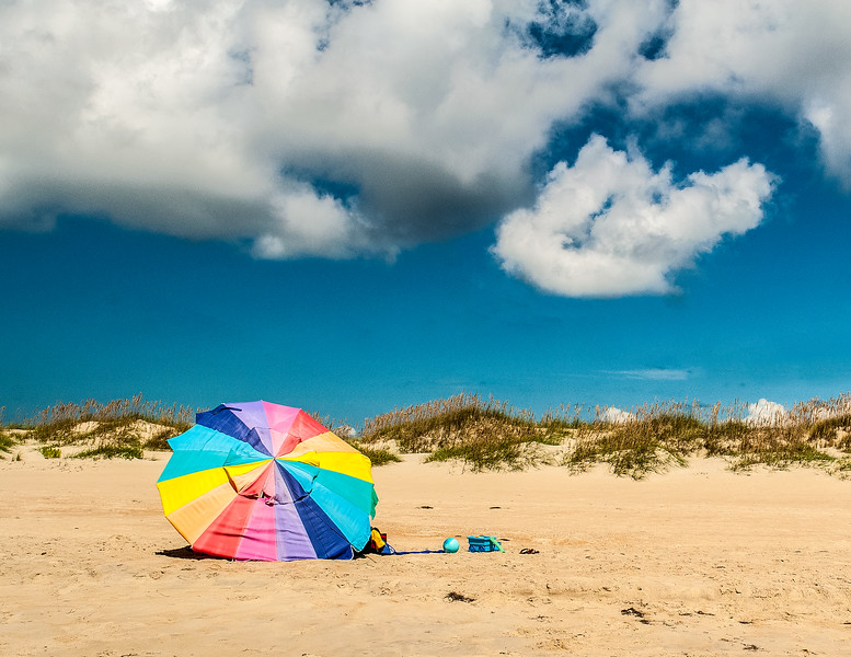 Beach Umbrella @ Cape Hatteras National Seashore - Ocracoke Island, NC