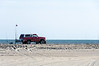 4WD Pickup on the Beach @ ORV Ramp 70 - Ocracoke, NC