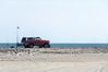 4WD Pickup on the Beach @ ORV Ramp 70 - Ocracoke, NC