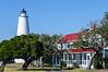 Ocracoke Light and Keeper's Quarters c. 1823 - Ocracoke, NC