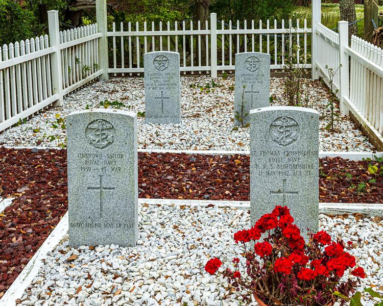Headstones @ British Cemetery - Ocracoke, NC, USA