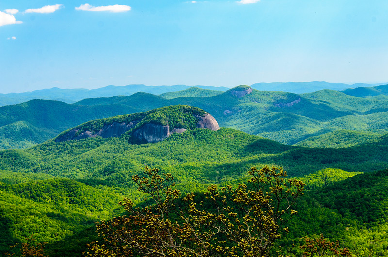 Looking Glass Rock 1 from Pounding Mill Overlook in Pisgah Natinoal Forest - Mile 413.2, Blue Ridge Parkway - Canton, NC
