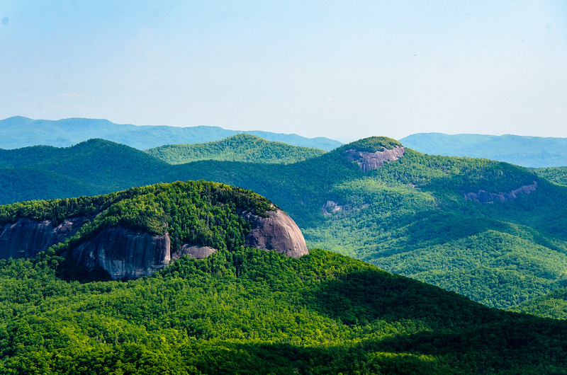 Looking Glass Rock 2 from Pounding Mill Overlook in Pisgah Natinoal Forest - Mile 413.2, Blue Ridge Parkway - Canton, NC