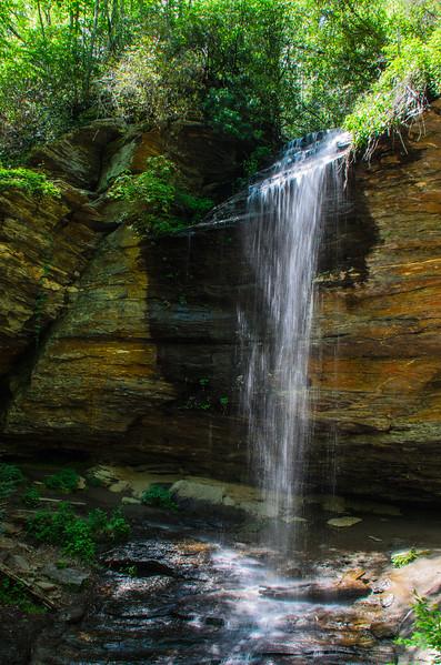 Moore Cove Falls in Pisgah National Forest - Brevard, NC