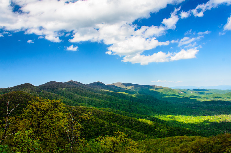 The View North from Pounding Mill Overlook in Pisgah Natinoal Forest - Mile 413.2, Blue Ridge Parkway - Canton, NC