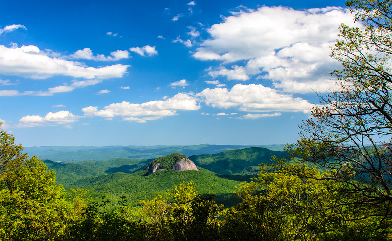 Looking Glass Rock Overlook in Pisgah Natinoal Forest - Mile 417, Blue Ridge Parkway - Canton, NC
