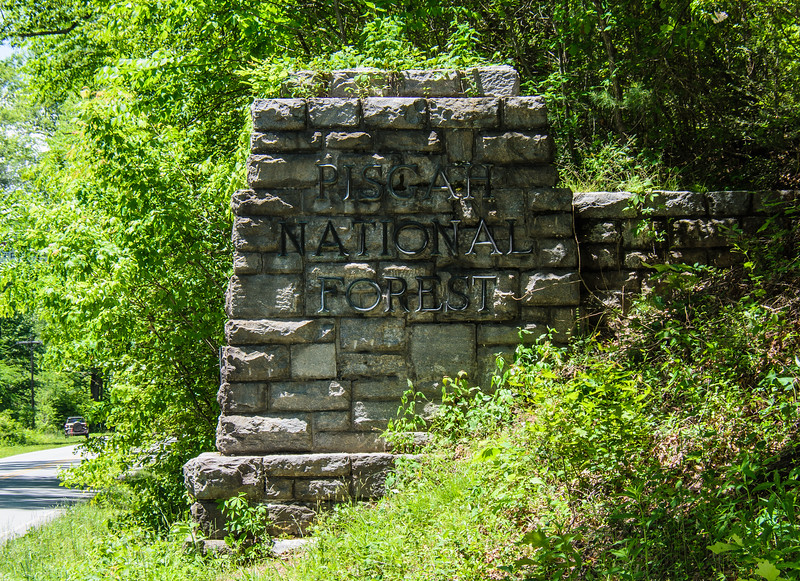 Pisgah National Forest Entrance on US-276 c. 1936 - Pisgah Forest, NC