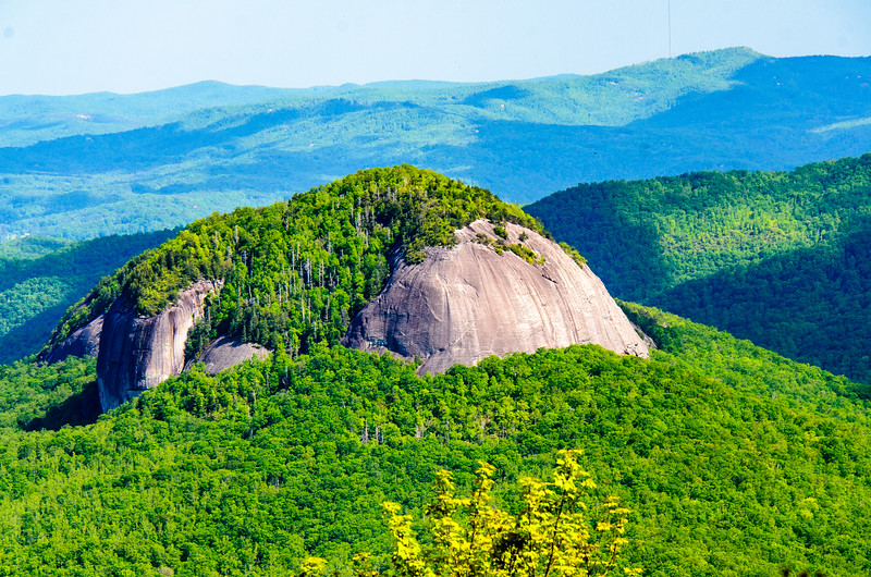 Looking Glass Rock from Looking Glass Rock Overlook in Pisgah Natinoal Forest - Mile 417, Blue Ridge Parkway - Canton, NC