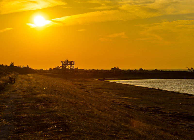 North Pond Observation Tower at Sunset @ Pea Island NWR - Rodanthe, NC