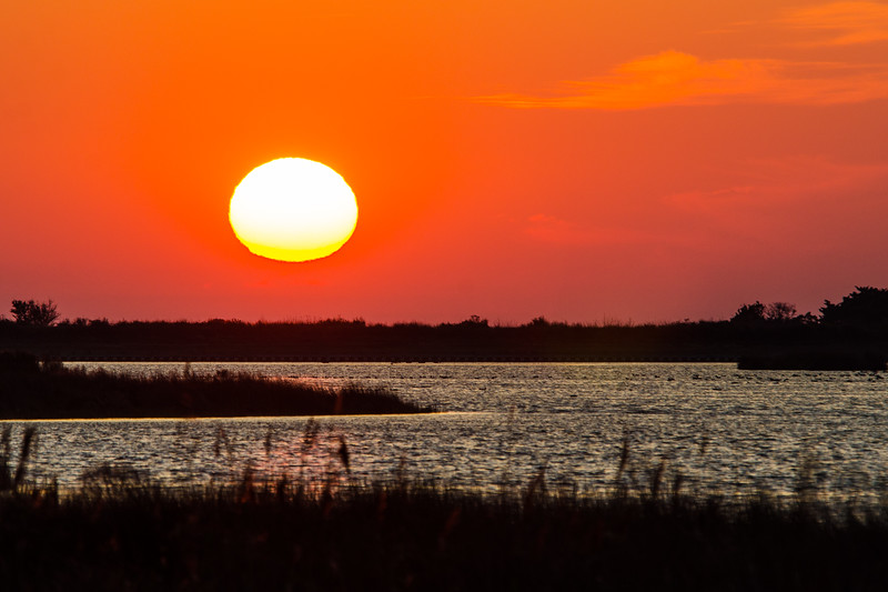 Sunset 3 Over North Pond, Pea Island NWR - Rodanthe, NC