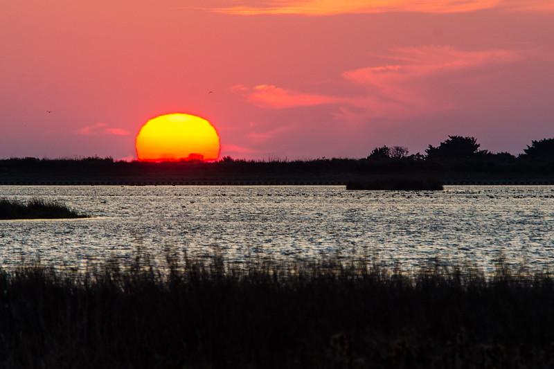 Sunset 4 Over North Pond, Pea Island NWR - Rodanthe, NC